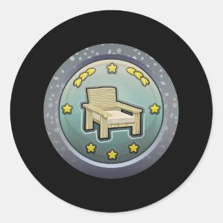 Glitch: achievement honourable chairperson classic round sticker