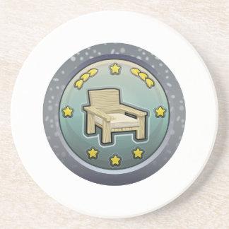 Glitch: achievement honourable chairperson sandstone coaster