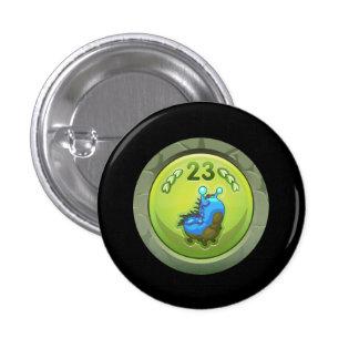 Glitch: achievement intermediate larva lover pinback buttons