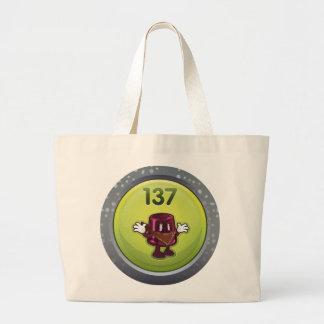 Glitch: achievement jammy dodger large tote bag