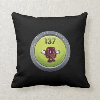 Glitch: achievement jammy dodger throw pillow
