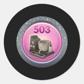 Glitch Achievement metalhead Classic Round Sticker