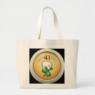 Glitch Achievement notquitepro bean tree fondler.p Large Tote Bag