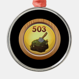 Glitch Achievement obsessive compulsive re peater. Metal Ornament