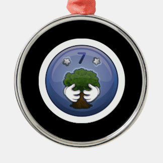 Glitch Achievement ok but needs improvement tree h Metal Ornament