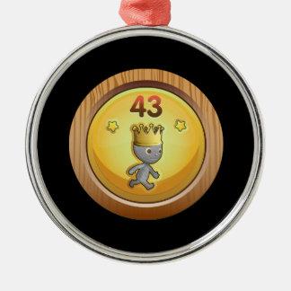 Glitch Achievement order of the chicken dormant.pn Metal Ornament