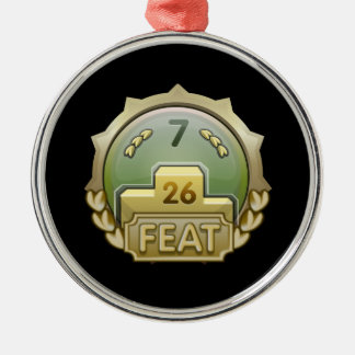 Glitch Achievement order of the seventh seal Metal Ornament