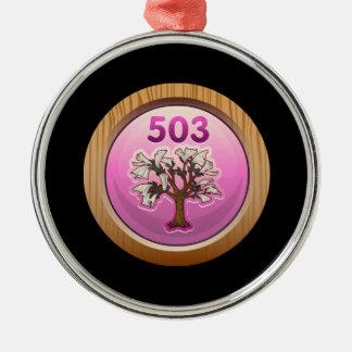 Glitch Achievement pad pincher Metal Ornament