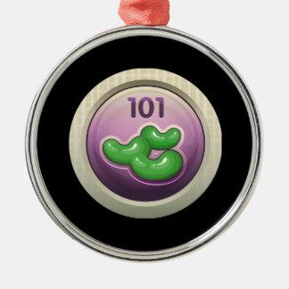 Glitch Achievement participant award  bean divisio Metal Ornament