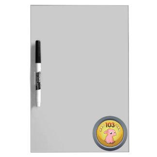 Glitch Achievement piggy hash slinger 1st class.pn Dry-Erase Board