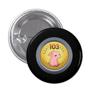 Glitch Achievement piggy hash slinger 1st class.pn Pinback Button