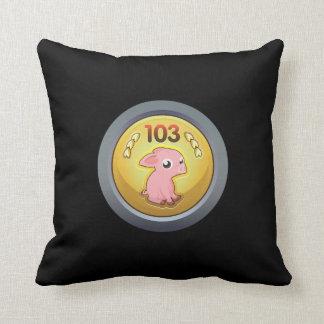 Glitch Achievement piggy hash slinger 1st class.pn Throw Pillow