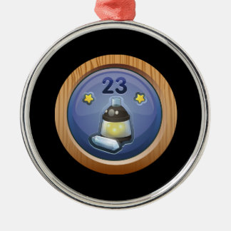 Glitch Achievement plain crystallizer Metal Ornament