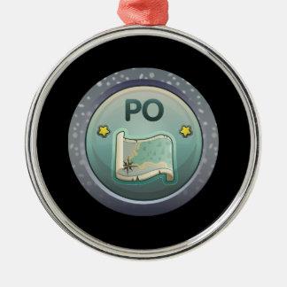 Glitch Achievement pollokoo completist Metal Ornament