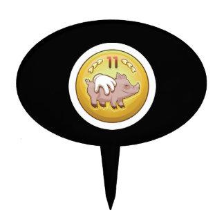 Glitch Achievement pork fondler Cake Topper