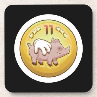 Glitch Achievement pork fondler Drink Coaster