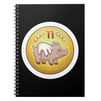 Glitch Achievement pork fondler Notebook