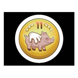 Glitch Achievement pork fondler Postcard
