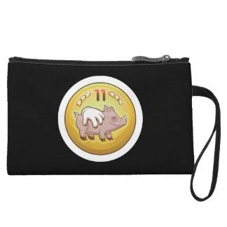 Glitch Achievement pork fondler Wristlet Wallet