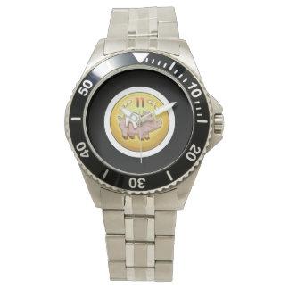 Glitch Achievement pork fondler Wristwatch