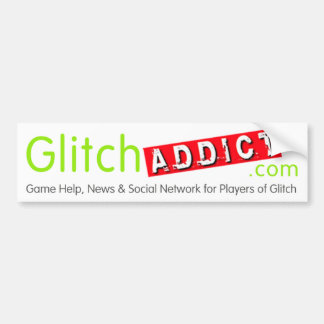 Glitch Addict Merchandise Bumper Sticker