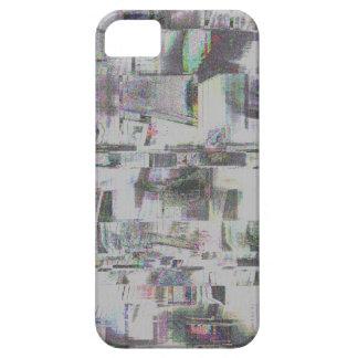 Glitch Art Gray Glass iPhone 5 Cases