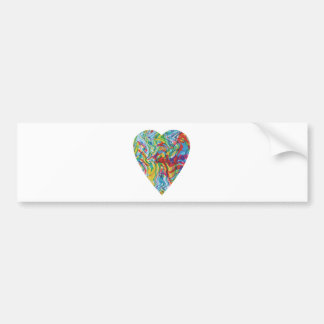 Glitch Art Heart #2 Bumper Sticker