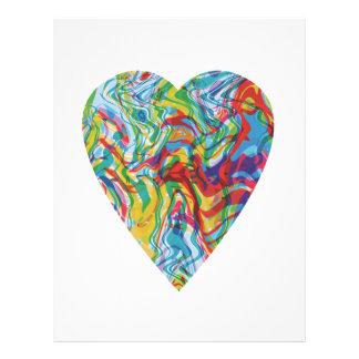 Glitch Art Heart #2 Letterhead