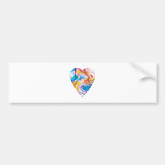 Glitch Art Heart Bumper Sticker
