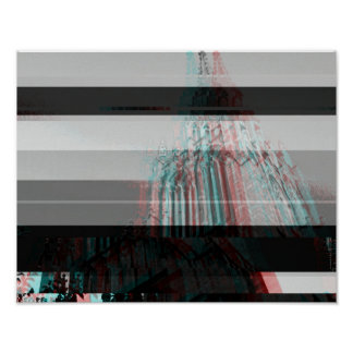 Glitch Cathedral Poster