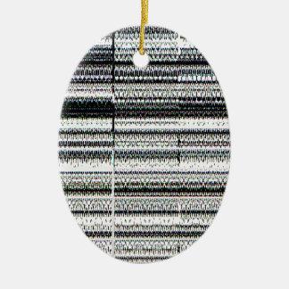 Glitch Ceramic Ornament