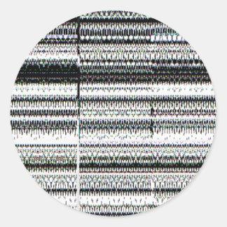 Glitch Classic Round Sticker