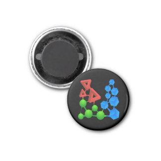 Glitch: compounds alphose 1 inch round magnet