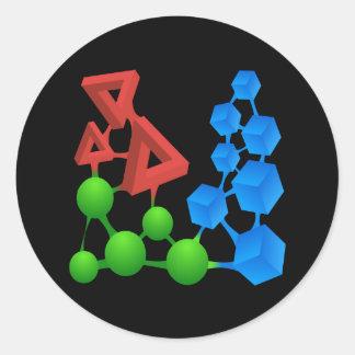 Glitch: compounds alphose classic round sticker