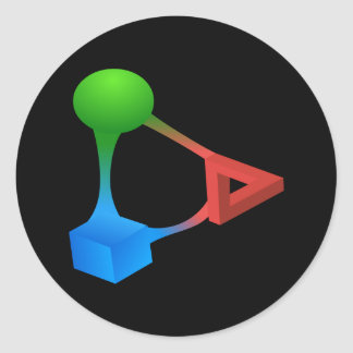 Glitch: compounds diabolic acid classic round sticker