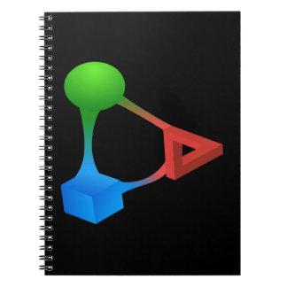 Glitch: compounds diabolic acid spiral notebook