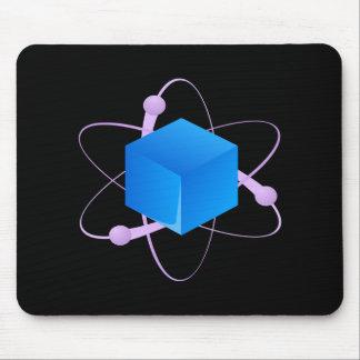 Glitch: compounds element blue mouse pad