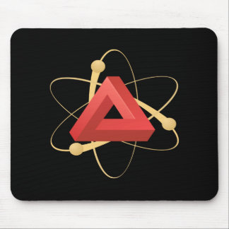 Glitch: compounds element red mouse pad