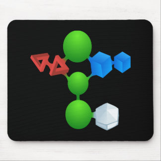 Glitch: compounds ixite mouse pad