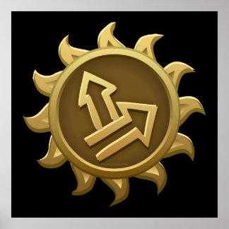 Glitch Emblem Lem Poster