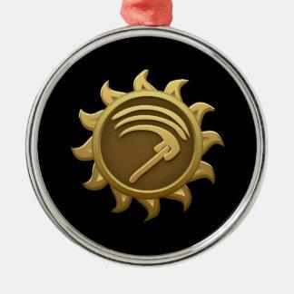 Glitch Emblem Mab Metal Ornament