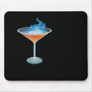 Glitch: flaming humbaba mouse pad