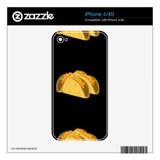 Glitch Food cold taco Decals For iPhone 4
