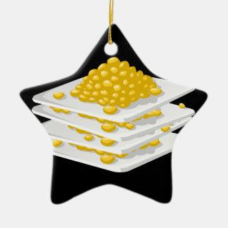 Glitch Food corn off the cob Ceramic Ornament