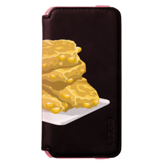 Glitch Food corny fritter iPhone 6/6s Wallet Case