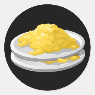 Glitch Food eggy scramble Classic Round Sticker