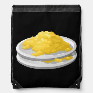 Glitch Food eggy scramble Drawstring Bag
