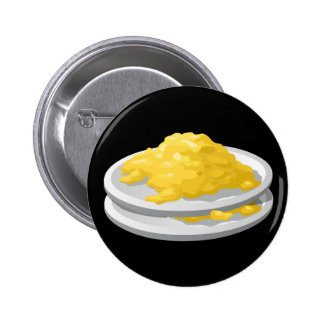 Glitch Food eggy scramble Pinback Button