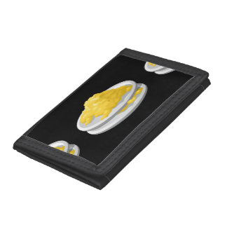 Glitch Food eggy scramble Trifold Wallets