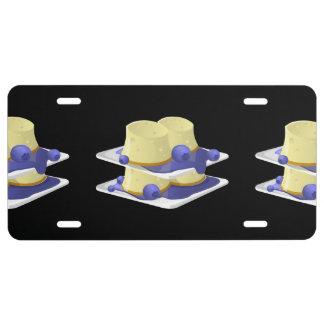 Glitch Food flummery License Plate